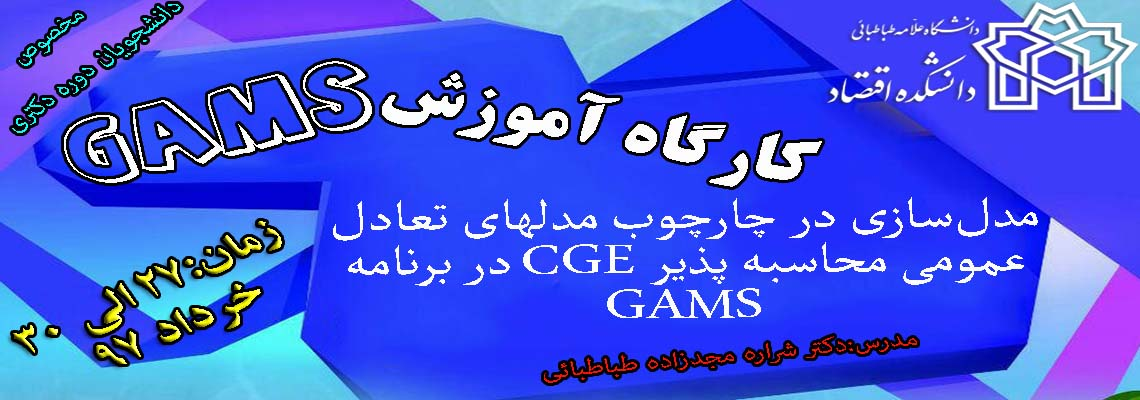 GAMS workshop